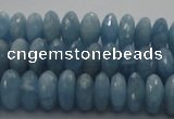 CAQ87 15.5 inches 4*9mm faceted rondelle AA grade aquamarine beads
