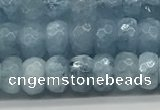 CAQ891 15.5 inches 4*7mm faceted rondelle aquamarine beads
