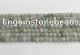 CAQ911 15.5 inches 6mm faceted round aquamarine beads wholesale