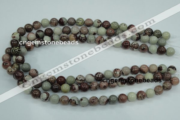 CAR04 15.5 inches 10mm round artistic jasper beads wholesale
