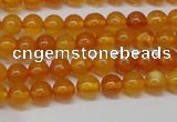 CAR102 15.5 inches 5mm round natural amber beads