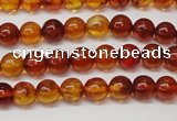 CAR112 15.5 inches 5mm round natural amber beads
