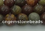 CAR353 15.5 inches 10mm round red artistic jasper beads wholesale