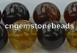 CAR510 15.5 inches 18mm - 19mm round natural amber beads wholesale