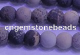 CAR62 15.5 inches 8mm round matte yellow artistic jasper beads