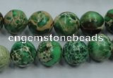 CAT222 15.5 inches 16mm round dyed natural aqua terra jasper beads