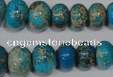 CAT302 15.5 inches 7*10mm – 15*20mm rondelle dyed aqua terra jasper beads