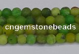 CAU410 15.5 inches 4mm round matte Australia chrysoprase beads