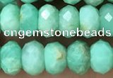 CAU488 15.5 inches 5*8mm faceted rondelle Australia chrysoprase beads
