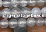 CBC718 15.5 inches 4mm round blue chalcedony gemstone beads
