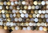 CBC801 15.5 inches 6mm round natural polka dot chalcedony beads