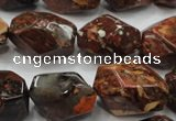 CBD28 15.5 inches 15*24mm faceted nuggets brecciated jasper gemstone beads