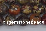 CBD371 15.5 inches 10mm faceted round brecciated jasper beads