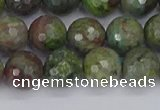 CBG103 15.5 inches 10mm faceted round bronze green gemstone beads