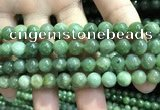 CBJ637 15.5 inches 8mm round Russian green jade beads wholesale