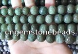 CBJ704 15.5 inches 12mm round green jade beads wholesale