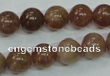 CBQ204 15.5 inches 12mm round strawberry quartz beads wholesale
