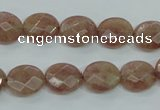 CBQ251 15.5 inches 10*12mm faceted oval strawberry quartz beads