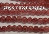 CBQ351 15.5 inches 6mm round natural strawberry quartz beads