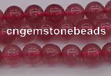 CBQ486 15.5 inches 6mm round strawberry quartz beads wholesale