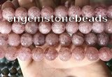 CBQ709 15.5 inches 12mm round strawberry quartz beads wholesale