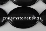 CBS254 15.5 inches 25*35mm oval blackstone beads wholesale