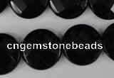 CBS297 15.5 inches 20mm faceted coin blackstone beads wholesale