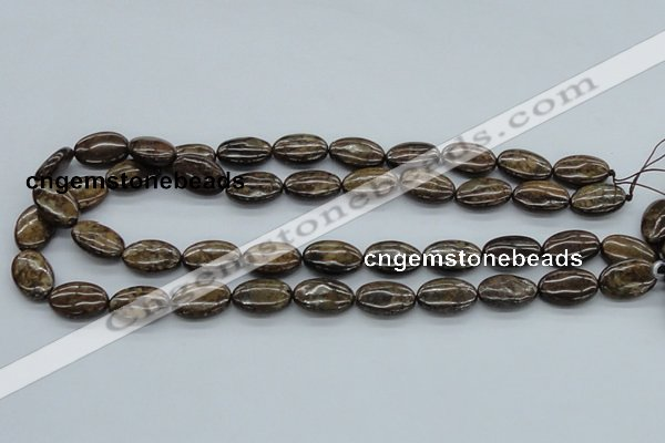 CBZ06 15.5 inches 12*18mm oval bronzite gemstone beads wholesale