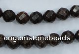 CBZ104 15.5 inches 8mm faceted round bronzite gemstone beads