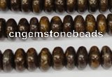 CBZ401 15.5 inches 6*10mm rondelle bronzite gemstone beads