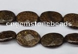 CBZ437 15.5 inches 12*16mm faceted oval bronzite gemstone beads