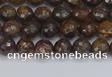 CBZ611 15.5 inches 6mm faceted round bronzite gemstone beads