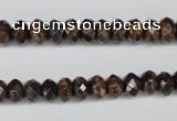 CBZ91 15.5 inches 5*8mm faceted rondelle bronzite gemstone beads