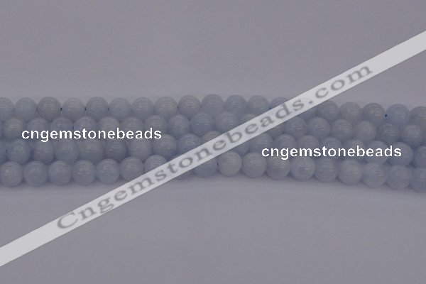 CCA406 15.5 inches 8mm round blue calcite gemstone beads