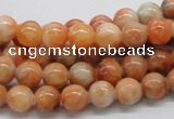 CCA51 15.5 inches 8mm round orange calcite gemstone beads wholesale