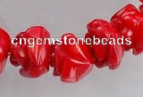 CCB09 15.5 inches 9-10mm rose shape red coral beads Wholesale