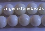 CCB303 15.5 inches 9mm round white coral beads wholesale