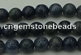 CCB450 15.5 inches 4mm round blue coral beads wholesale