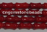 CCB50 15.5 inches 5*11mm bamboo shape red coral beads Wholesale