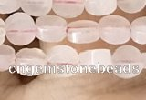 CCB511 15.5 inches 4mm coin rose quartz beads wholesale