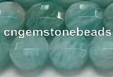 CCB681 15.5 inches 10mm faceted coin amazonite gemstone beads
