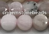 CCB724 15.5 inches 8mm faceted coin pink opal gemstone beads