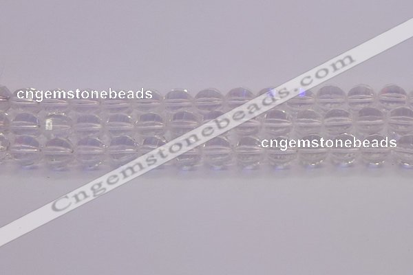 CCC623 15.5 inches 10mm faceted round natural white crystal beads