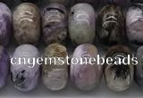 CCG137 15.5 inches 6*10mm rondelle natural charoite gemstone beads