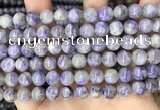 CCG320 15.5 inches 8mm round natural charoite beads wholesale
