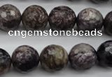 CCG59 15.5 inches 13mm faceted round natural charoite beads