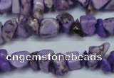CCH234 34 inches 5*8mm dyed turquoise chips beads wholesale
