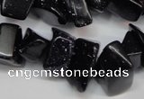 CCH302 34 inches 8*12mm blue goldstone chips gemstone beads wholesale