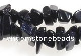 CCH41 35 inches blue sand stone chips gemstone beads wholesale