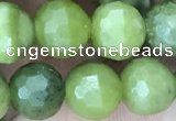 CCJ371 15.5 inches 8mm faceted round China jade beads wholesale